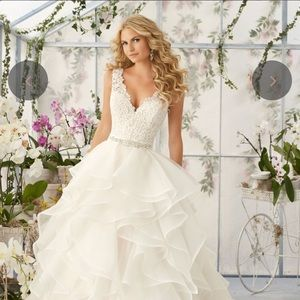 MORI LEE White Organza Wedding Dress